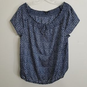 Ann Taylor Women's Short Sleeve Tie Front Top | SP